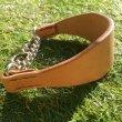 画像3: ヌメ革ハーフチョーク首輪(即納品)22cm (3)